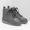 Kotníčková dámská kožená zimní obuv bata, šedá, 596-2713 - 26
