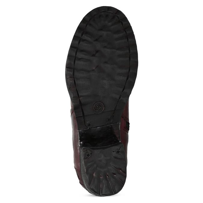 Kožená kotníčková obuv vínová bata, červená, 696-5666 - 18