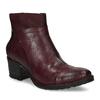 Kožená kotníčková obuv vínová bata, červená, 696-5666 - 13