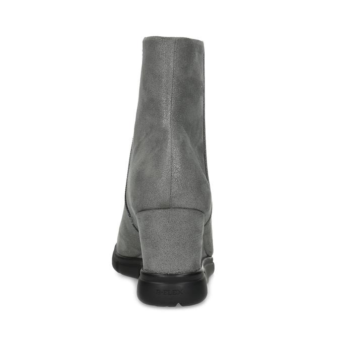 Dámská kotníčková obuv na klínku stříbrná bata-b-flex, stříbrná, 799-2642 - 15