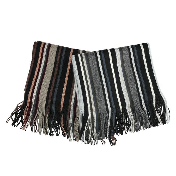 Pánská pruhovaná šála bata, vícebarevné, 909-0679 - 13