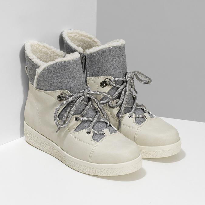 Dámská zimní obuv s kožíškem bata-red-label, béžová, 591-1637 - 26