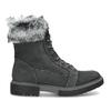 Dámská kožená zimní obuv s kožíškem weinbrenner, černá, 596-6748 - 19