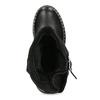 Kožené dámské kozačky s přezkou bata, černá, 594-6719 - 17