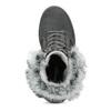 Dámská kožená zimní obuv s kožíškem weinbrenner, černá, 596-6748 - 17