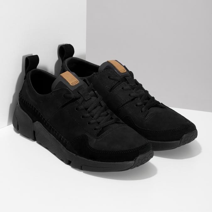 Černé pánské kožené tenisky clarks, černá, 824-6078 - 26