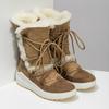 Dámské kožené sněhule s kožíškem weinbrenner, hnědá, 593-8602 - 26