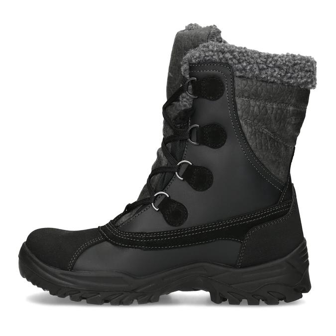 Pánské zimní sněhule se zateplením weinbrenner, černá, 896-6730 - 17