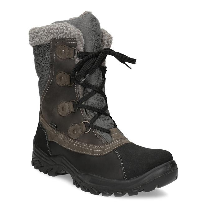 Pánské zimní sněhule s kožíškem weinbrenner, hnědá, 896-4730 - 13