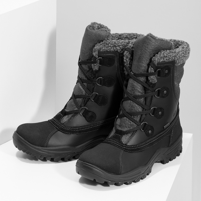 Pánské zimní sněhule se zateplením weinbrenner, černá, 896-6730 - 16