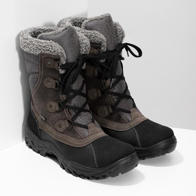 Pánské zimní sněhule s kožíškem weinbrenner, hnědá, 896-4730 - 26
