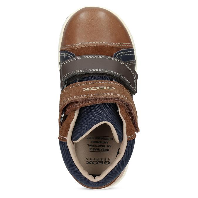 Geox Dětská hnědá kožená kotníčková obuv - Všechny chlapecké boty ... b57e942374