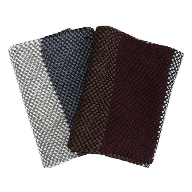 Pánská pletená pruhovaná šála bata, vícebarevné, 909-0692 - 13