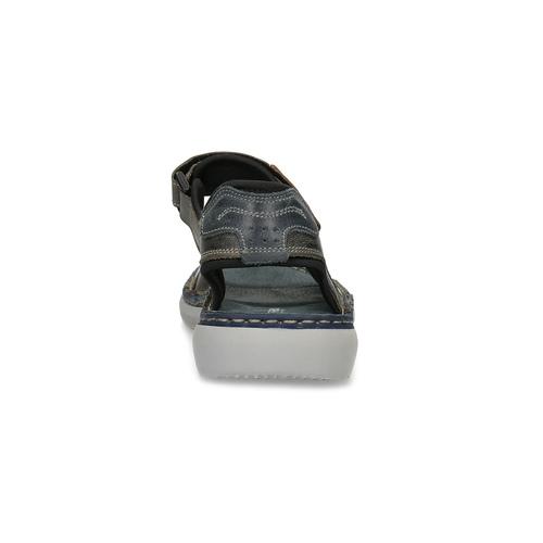 Kožené pánské sandály se suchými zipy béžové weinbrenner, hnědá, 866-2644 - 15