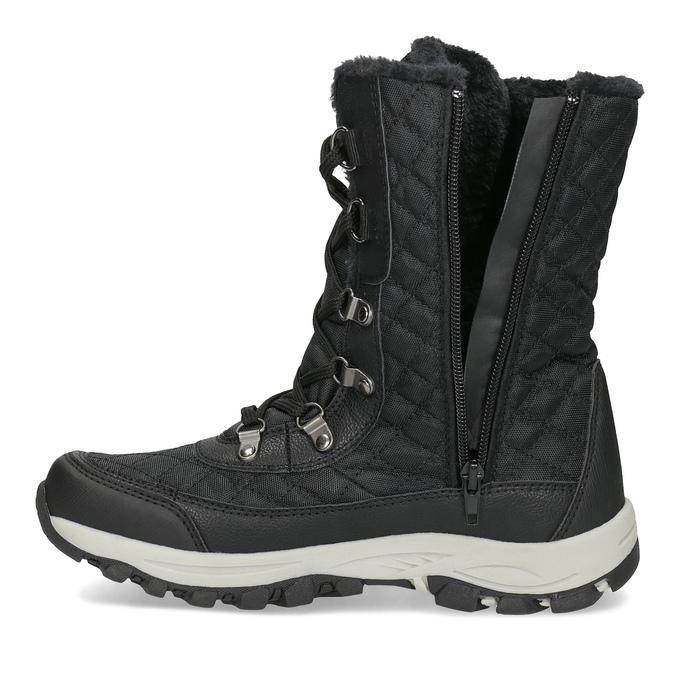 Dámské zimní prošívané sněhule bata, černá, 599-6623 - 17