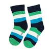 Dětské vysoké ponožky s proužky bata, zelená, 919-7688 - 26