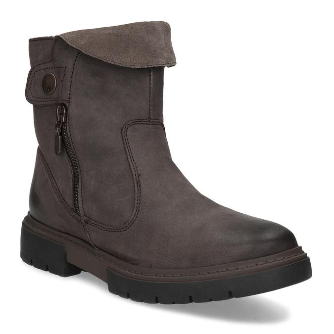 Kožená hnědá dámská obuv weinbrenner, hnědá, 596-4759 - 13