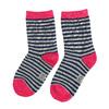 Dětské vysoké pruhované ponožky bata, šedá, 919-2688 - 26