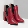 Červené kotníčkové kozačky v Chelsea stylu bata, červená, 794-5609 - 26