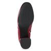 Červené kožené kotníčkové kozačky s přezkou bata, červená, 794-5608 - 18