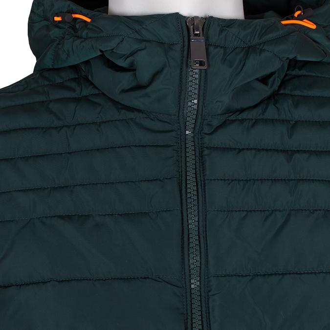 Zelená pánská bunda s prošitím bata, zelená, 979-7430 - 16