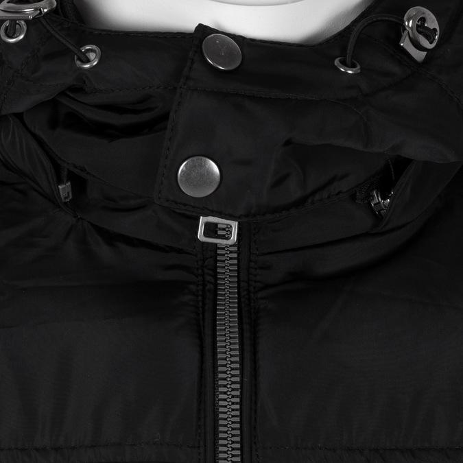 Černá pánská bunda s kapucí bata, černá, 979-6387 - 16