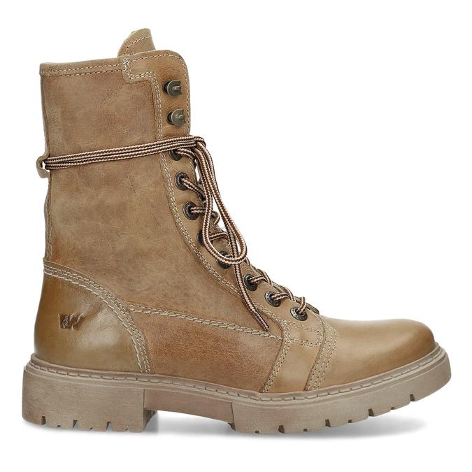Světle hnědá dámská kožená obuv weinbrenner, hnědá, 596-3758 - 19