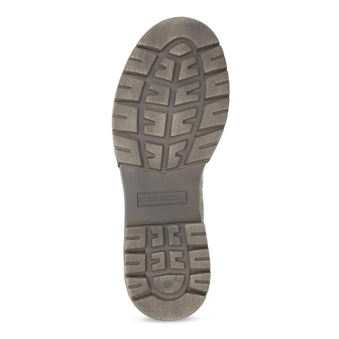 Béžová kožená dámská obuv vysoká weinbrenner, béžová, 596-8746 - 18
