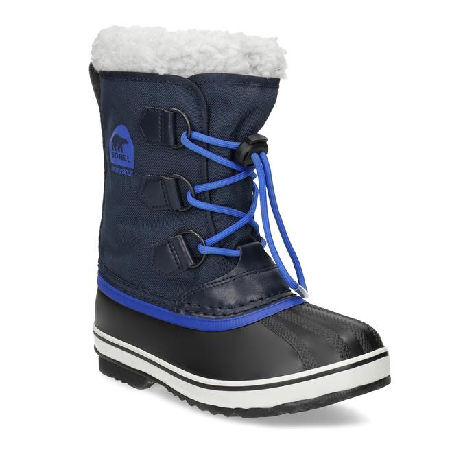 Modré dětské sněhule se zateplením sorel, modrá, 399-9043 - 13