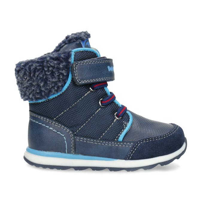Modrá dětská zimní obuv se zateplením bubblegummers, modrá, 191-9616 - 19