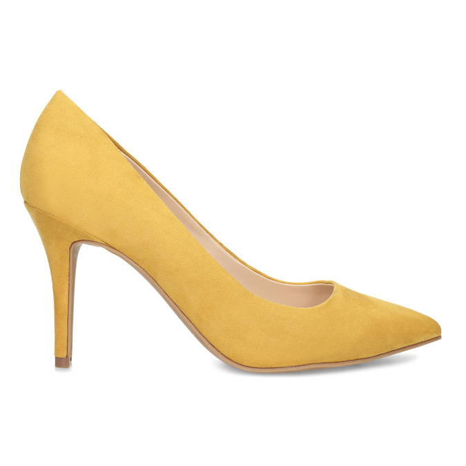 Žluté dámské lodičky na jehlovém podpatku bata-red-label, žlutá, 729-8637 - 19