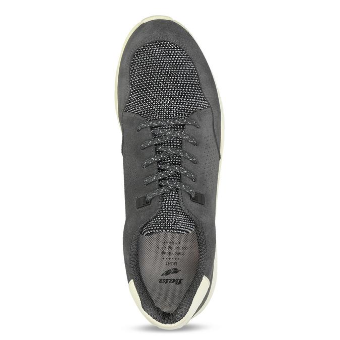 Šedé pánské tenisky s perforací bata-light, šedá, 849-2644 - 17