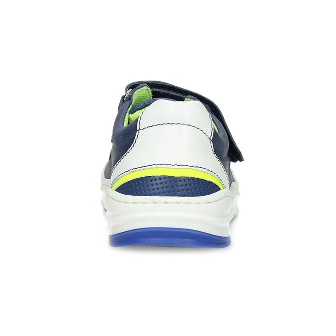 Dětské kožené modré tenisky s perforací mini-b, modrá, 214-9610 - 15