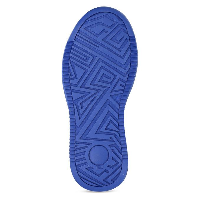 Dětské kožené modré tenisky s perforací mini-b, modrá, 214-9610 - 18
