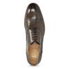 Kožené hnědé Oxford polobotky s perforací bata, hnědá, 826-2834 - 17