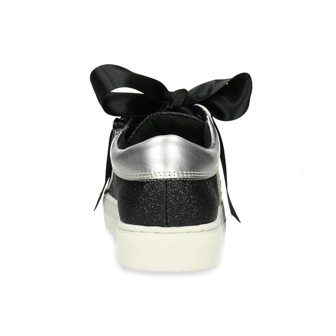 Dětské tenisky se stříbrnými detaily mini-b, černá, 321-6372 - 15