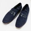 Modré mokasíny z broušené kůže bata, modrá, 813-9600 - 16