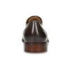 Kožené hnědé Oxford polobotky s perforací bata, hnědá, 826-2834 - 15