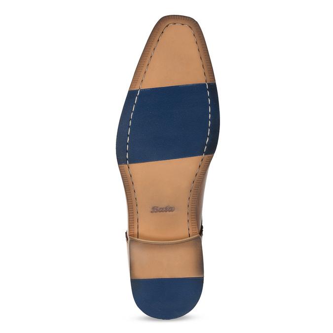 Hnědé kožené pánské polobotky bata, hnědá, 826-3615 - 18