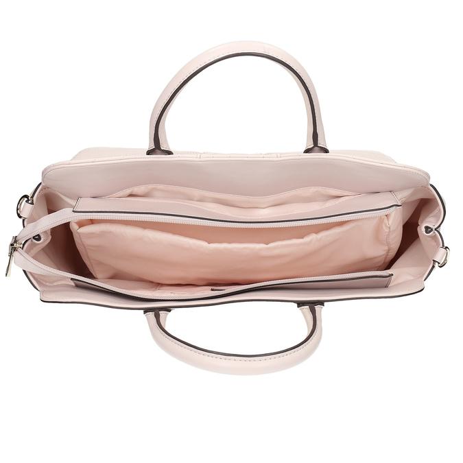 Růžová dámská kabelka s prošitím bata-red-label, růžová, 961-5950 - 15