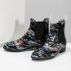 Dámské kotníčkové holínky s květinovým vzorem bata, černá, 592-6610 - 16