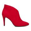 Červené dámské kotníčkové kozačky na podpatku bata-red-label, červená, 799-5646 - 19
