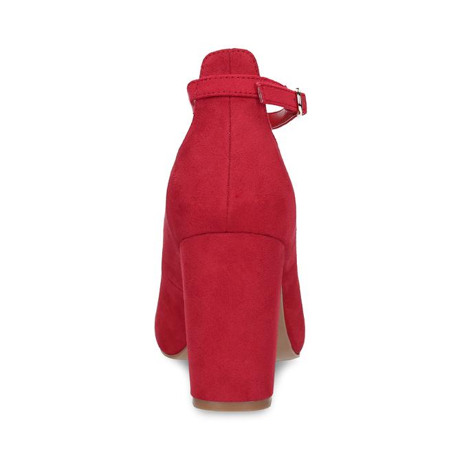 Červené dámské lodičky na stabilním podpatku bata-red-label, červená, 729-5635 - 15
