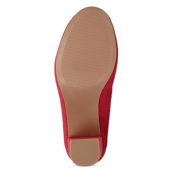 Červené dámské lodičky na stabilním podpatku bata-red-label, červená, 729-5635 - 18
