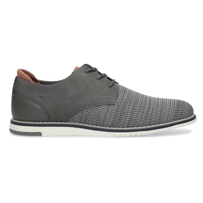 Pánské ležérní šedé Derby polobotky bata-red-label, šedá, 821-2608 - 19