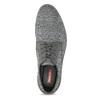 Šedé pánské ležérní Derby polobotky bata-red-label, šedá, 829-2612 - 17