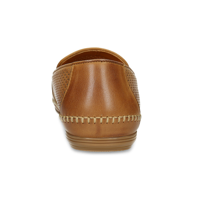 Kožené hnědé pánské Loafers bata, hnědá, 836-3627 - 15