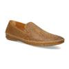 Kožené hnědé pánské Loafers bata, hnědá, 836-3627 - 13