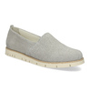 Kožená dámská Slip-on obuv s perforací flexible, šedá, 513-9609 - 13