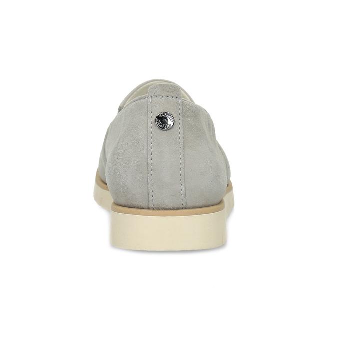 Kožená dámská Slip-on obuv s perforací flexible, šedá, 513-9609 - 15